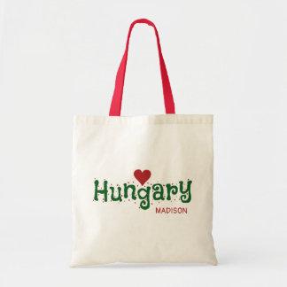ハンガリー愛名前をカスタムするのトートバック トートバッグ