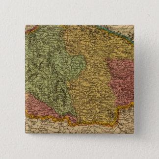 ハンガリー2 5.1CM 正方形バッジ