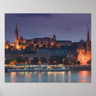 ハンガリー、ブダペスト: 城の丘、カルビン派の教会 ポスター
