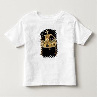ハンガリー、第11第12世紀の神聖な王冠 トドラーTシャツ