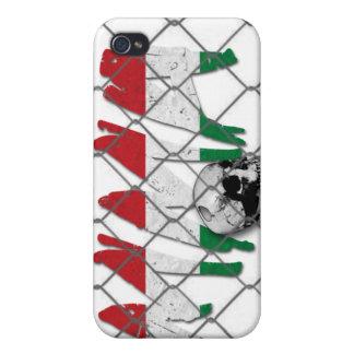 ハンガリーMMAのスカルの白のiphone 4ケース iPhone 4 Cover
