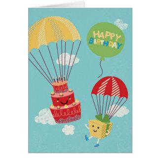 ハンググライダーが付いているケーキ カード