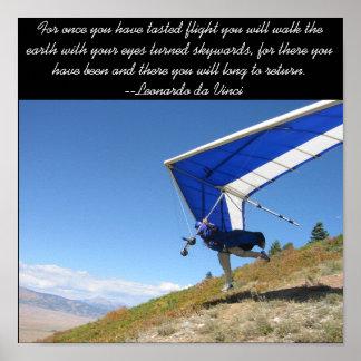 ハンググライダーの離陸 ポスター