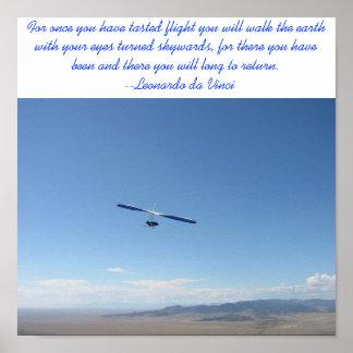 ハンググライダー飛行 ポスター