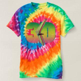 ハンググライダー3D色のPontoの本部 Tシャツ