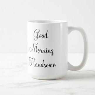 ハンサムなおはよう コーヒーマグカップ