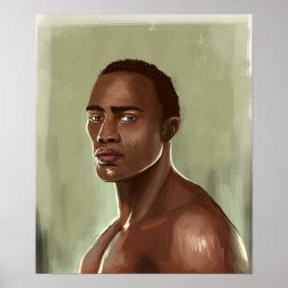 ハンサムなアフリカの人ポスター ポスター
