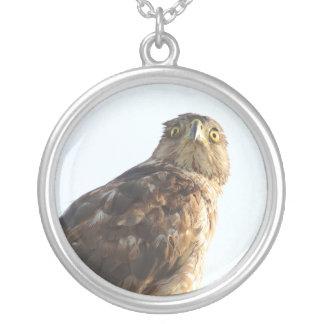 ハンサムなタカの鳥のネックレス シルバープレートネックレス