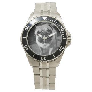 ハンサムなパグ 腕時計