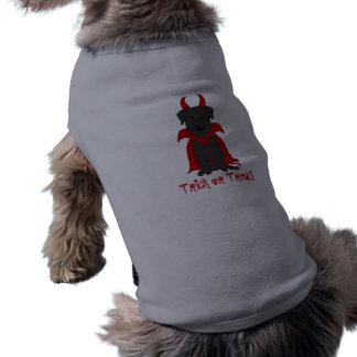 ハンサムな悪魔のハロウィンの黒い実験室 ペット服