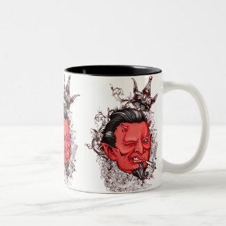 ハンサムな悪魔のマグ ツートーンマグカップ