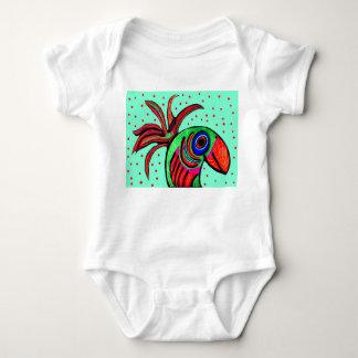 ハンサムな鳥の乳児のクリーパー ベビーボディスーツ