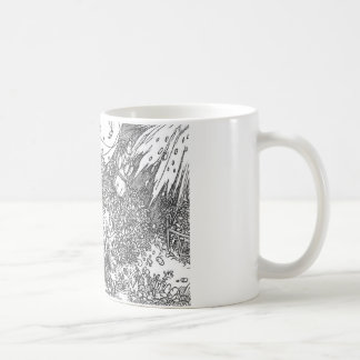 ハンズHolbein著紡績工より若いの コーヒーマグカップ