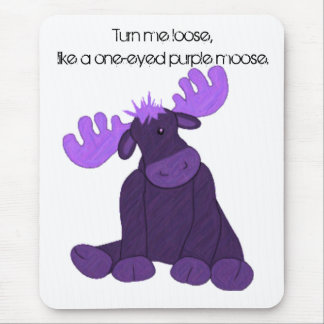 ハンソンの紫色のアメリカヘラジカ マウスパッド