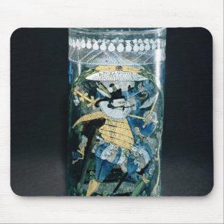 ハンターおよび女性のエナメルを塗られた装飾 マウスパッド