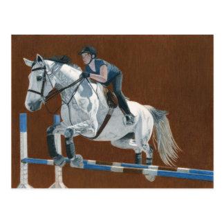 ハンターかジャンパーの馬 ポストカード