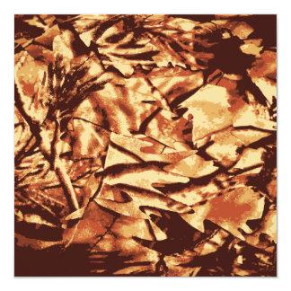 ハンターのためのブラウンの迷彩柄のカムフラージュのギフト 13.3 スクエアインビテーションカード