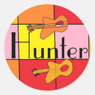 ハンターのギターのステッカー ラウンドシール