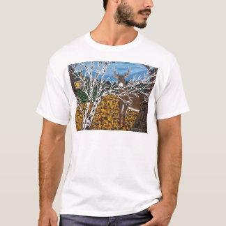 ハンターのシカのキャンプ Tシャツ