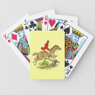 ハンターのジャンパーの馬のキツネ狩りの乗馬 バイスクルトランプ