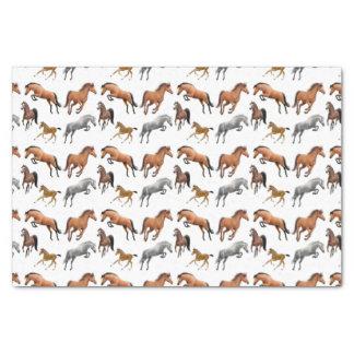 ハンターのジャンパーの馬のティッシュペーパー 薄葉紙
