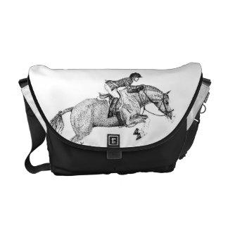 ハンターの子馬の点描 メッセンジャーバッグ