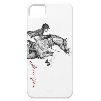 ハンターの子馬の点描 iPhone SE/5/5s ケース