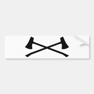 ハンターの斧 バンパーステッカー
