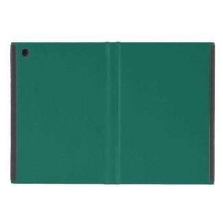 ハンターの深緑色名前入りな色の背景 iPad MINI ケース