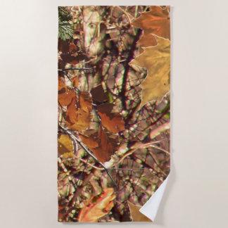 ハンターの秋のカムフラージュの絵画の装飾 ビーチタオル