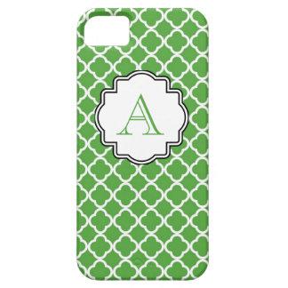 ハンター緑のモロッコのプリントのモノグラム iPhone SE/5/5s ケース