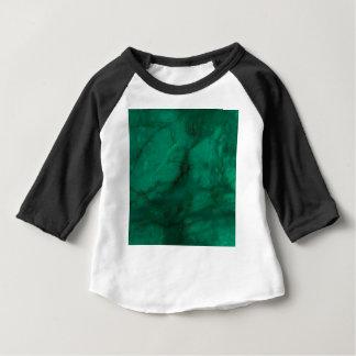 ハンター緑の大理石 ベビーTシャツ