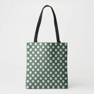 ハンター緑の白黒のバレーボールの球 トートバッグ
