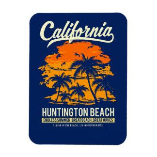 ハンチングトンビーチカリフォルニアの日没 マグネット