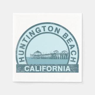 ハンチングトンビーチ桟橋 スタンダードカクテルナプキン