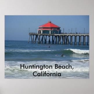 ハンチングトンビーチ、カリフォルニア ポスター