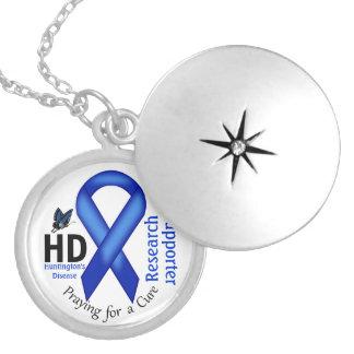 ハンティントンの病気HDの認識度の研究サポート ロケットネックレス