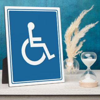 ハンディキャップの車椅子の印 フォトプラーク