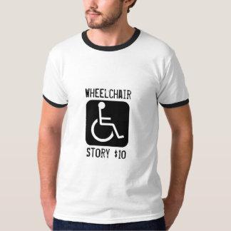 ハンディキャップ、車椅子、物語$10 Tシャツ