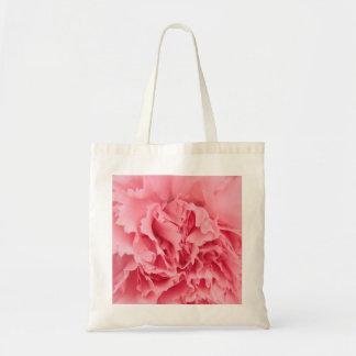 ハンドバッグのピンクのカーネーションの終わり トートバッグ