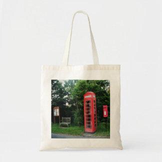ハンドバッグの田舎赤い電話およびポスト トートバッグ