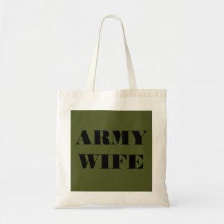 ハンドバッグの軍隊の妻 トートバッグ
