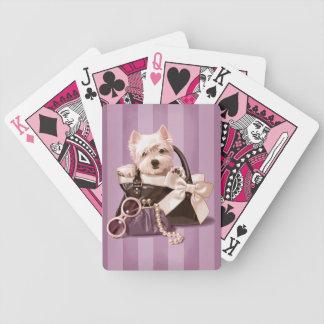 ハンドバッグのWestieの子犬 バイスクルトランプ