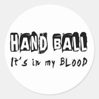 ハンドボールそれは私の血にあります ラウンドシール