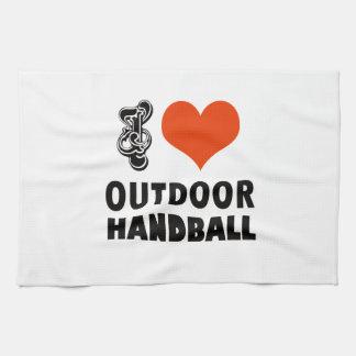 ハンドボールのデザイン キッチンタオル
