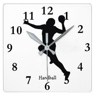 ハンドボールプレーヤー スクエア壁時計