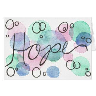 ハンドメイドの水彩画の希望の挨拶状 カード