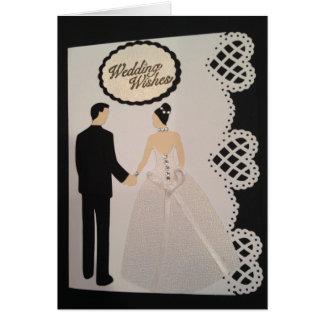 ハンドメイドの結婚式の招待状 カード