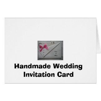 ハンドメイドの結婚式招待状カード カード