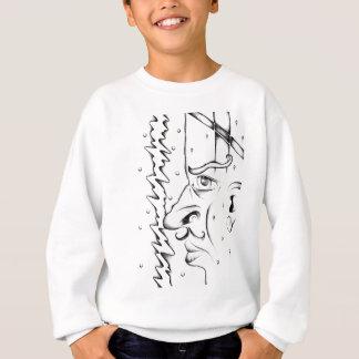 ハンドメイド顔のスケッチのスケッチの芸術 スウェットシャツ